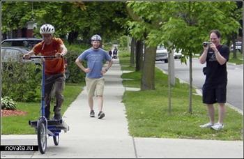 Шагающий велосипед. Фото с сайта  novate.ru