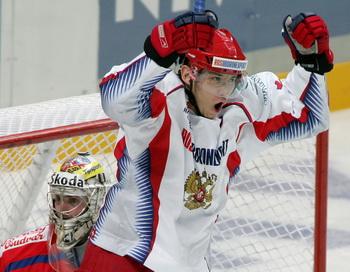Сборная России по хоккею обыграла Чехию. Фото: MAXIM MARMUR/AFP/Getty Images