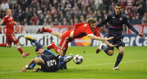 «Бавария» (Германия) – «Лион» (Франция). Фото: Alex GRIMM, Christof KOEPSEL /Getty Images