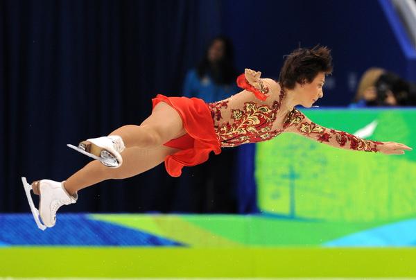 Алена Леонова стала восьмой после короткой программы в Ванкувере. Фото: Yuri KADOBNOV/AFP/Getty Images