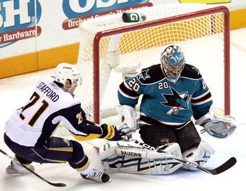 Евгений Набоков признан лучшим игроком встречи в матче НХЛ против