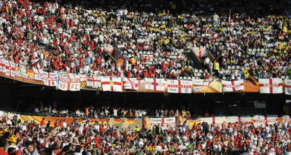 Южная Африка. Мангаунг/Блумфотейн. Стадион Фри Стейт: Германия – Англия. Фото: Stephane DE SAKUTIN/AFP/Getty Images