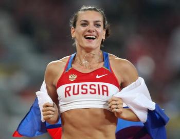Исинбаеву признали лучшей спортсменкой года. Фото: VALERY HACHE/AFP/Getty Images