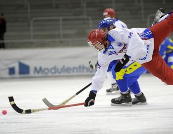 Сборная России разгромила США на  ЧМ по хоккею с мячом. Фото: FREDRIK SANDBERG/AFP/Getty Images