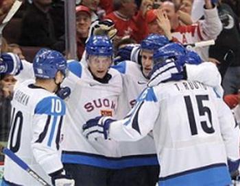 Сборная Финляндии по хоккею завоевала бронзу Олимпиады. Фото с сайта livesport.ru