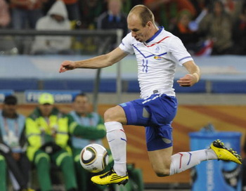 Арьен Роббен – нападающий сборной Голландии. Фото: Rodger BOSCH/AFP/Getty Images
