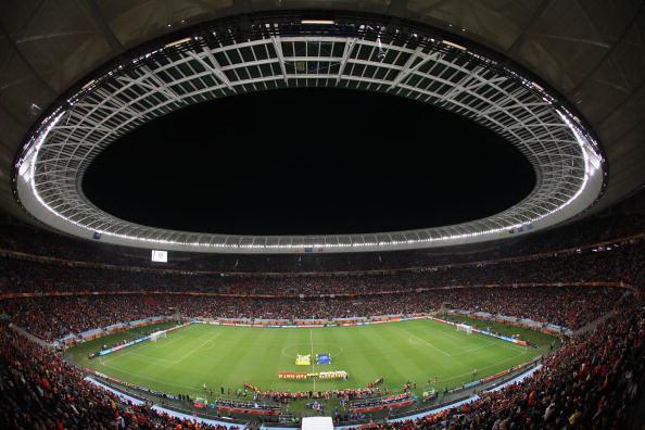 Южная Африка. Кейптаун. Стадион Грин Пойнт: Испания – Португалия. Фото: Laurence GRIFFITHS/AFP/Getty Images