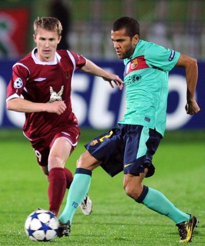 «Рубин» сыграл вничью с «Барселоной»  в матче Лиги Чемпионов. Фото: ALEXANDER NEMENOV/AFP/Getty Images