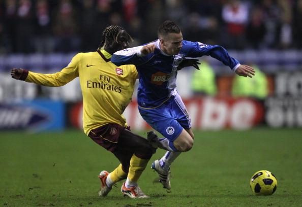 Уиган - Арсенал - 2:2. Фоторепортаж. Фото:  Paul  Ellis, Alex Livesey, Michael Steele/AFP/Getty Images