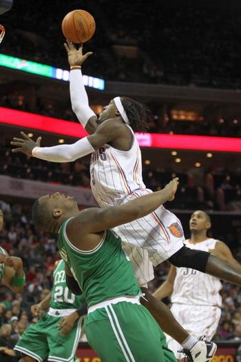 Джеральд Уоллас из Шарлотт Бобкэтс в матче против Бостон Селтикс продемонстрировал отличную игру. Фото: Streeter Lecka/Getty Images