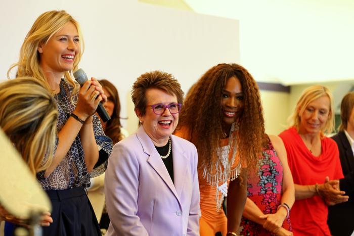Мария Шарапова выступает на праздновании 40-летия WTA в Лондоне. Фото: Julian Finney/Getty Images
