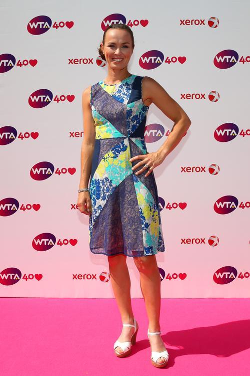 Мартина Хингис на праздновании 40-летия WTA в Лондоне. Фото: Julian Finney/Getty Images
