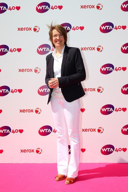 Жюстин Энин на праздновании 40-летия WTA в Лондоне. Фото: Julian Finney/Getty Images