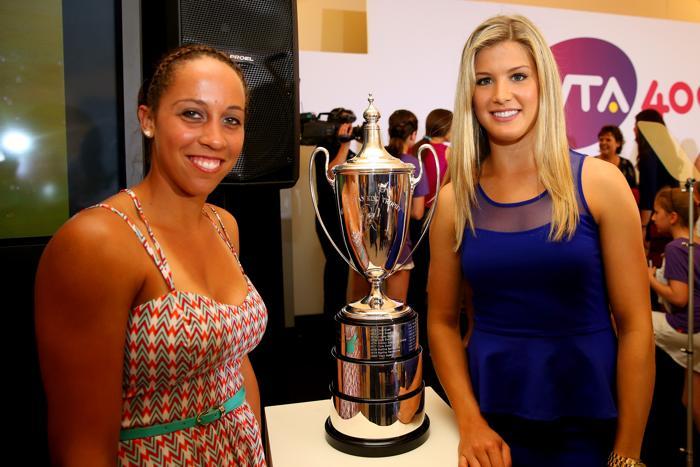 Евгения Бушар и Мэдисон Бренгл на праздновании 40-летия WTA в Лондоне. Фото: Julian Finney/Getty Images