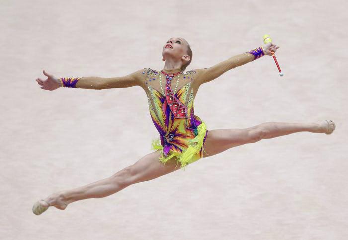 Яна Кудрявцева на Чемпионате Европы по художественной гимнастике в Вене. Фото: ALEXANDER KLEIN/AFP/Getty Images
