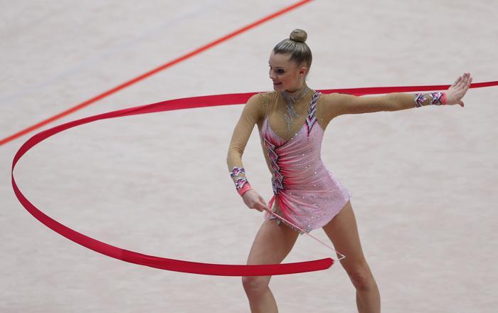 Лора Чун из Германии на Чемпионате Европы в командном зачёте. Фото: ALEXANDER KLEIN/AFP/Getty Images