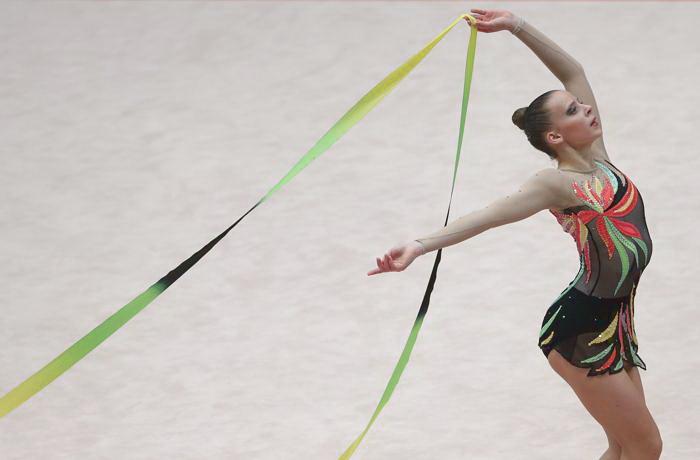 Иева Никуте из Литвы на Чемпионате Европы в командном зачёте. Фото: ALEXANDER KLEIN/AFP/Getty Images