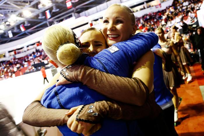 Чемпионат мира по синхронному катанию прошёл в Бостоне. Фото: Jared Wickerham/Getty Images