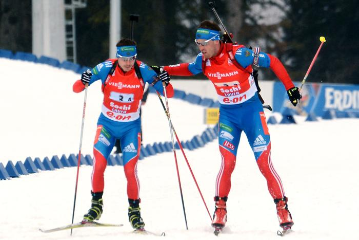Мужская сборная взяла золото на Кубке мира по биатлону в Сочи. Фото: KIRILL KUDRYAVTSEV/AFP/Getty Images