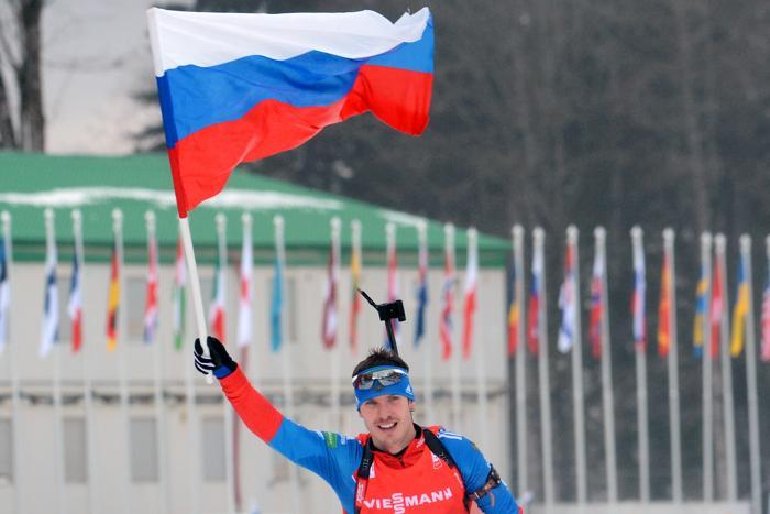 Евгений Устюгов стал вторым в личных спринтерских гонках. KIRILL KUDRYAVTSEV/AFP/Getty Images