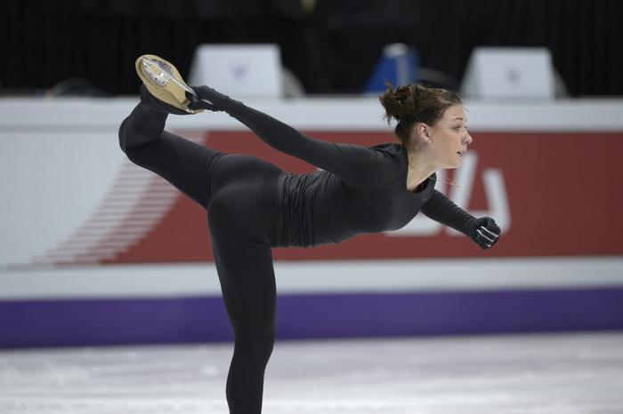 Алёна Леонова на подготовке к Чемпионату мира в Канаде. Фото: BRENDAN SMIALOWSKI/AFP/Getty Images
