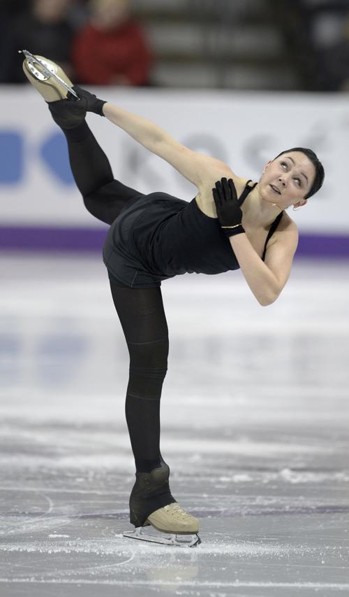 Елизавета Туктамышева на подготовке к Чемпионату мира в Канаде. Фото: BRENDAN SMIALOWSKI/AFP/Getty Images