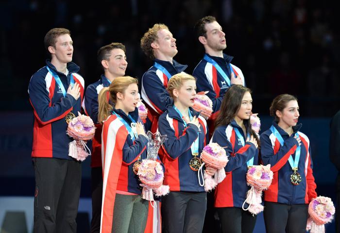 Команда США заняла 1 место на командном Кубке мира в Токио. Фото: KAZUHIRO NOGI/AFP/Getty Images