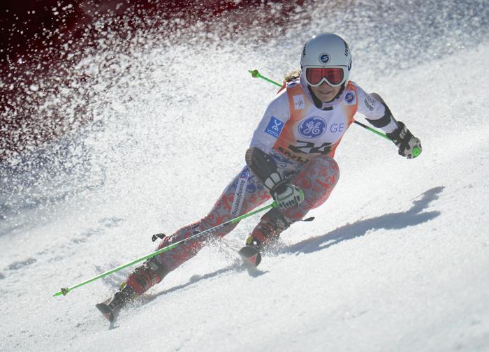 Анастасия Романова на Кубке Европы по горнолыжному спорту 14 марта 2013 года в Сочи. Фото: Shaun Botterill/Getty Images
