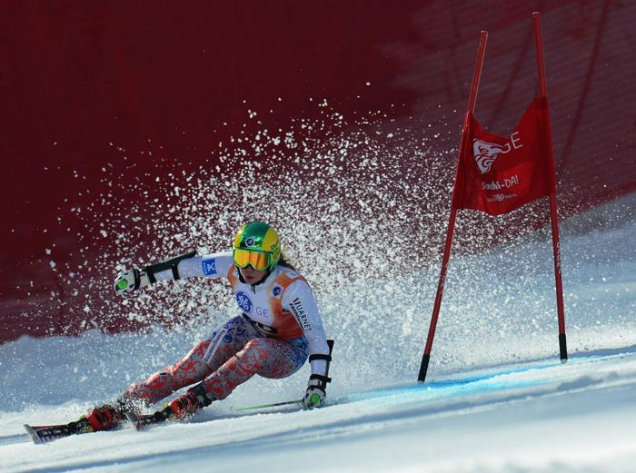 Александра Прокофьева на Кубке Европы по горнолыжному спорту 14 марта 2013 года в Сочи. Фото: Shaun Botterill/Getty Images