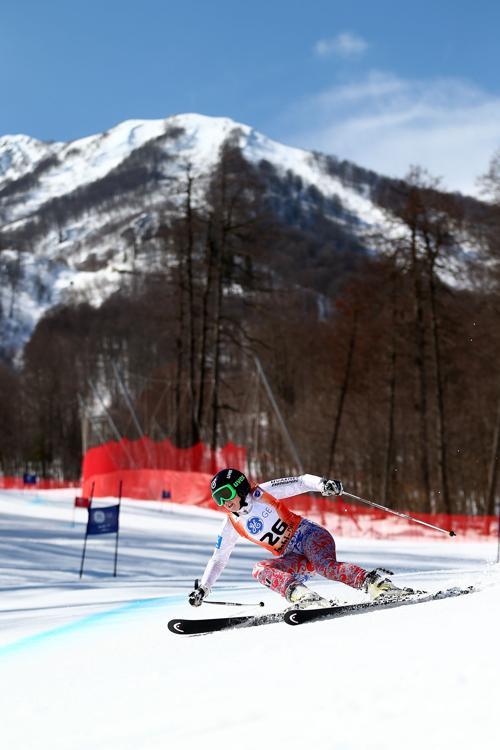 Анна Сорокина на Кубке Европы по горнолыжному спорту 14 марта 2013 года в Сочи. Фото: Clive Rose/Getty Images