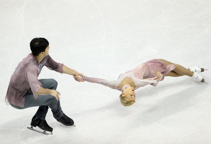 Волосожар и Траньков стали чемпионами мира. Фото: Ronald Martinez/Getty Images