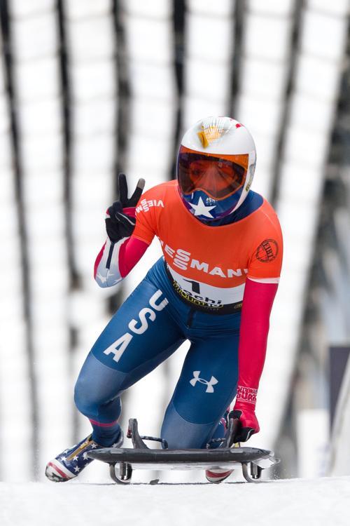 Кэйти Юлендер, 3 место в скелетоне в Сочи. Фото: LEON NEAL/AFP/Getty Images