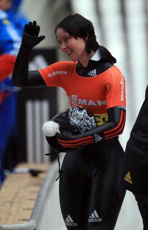 Марион Тис, 1 место в общем зачёте в скелетоне. Фото: Richard Heathcote/Getty Images