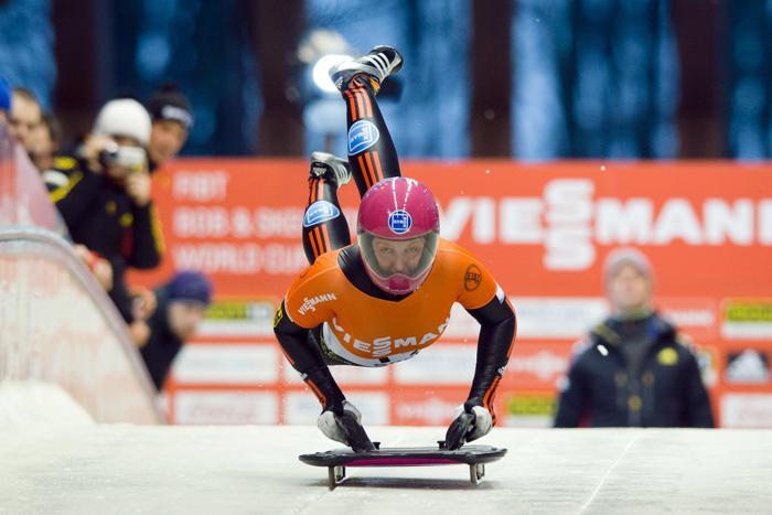 Женский скелетон. Фото: LEON NEAL/AFP/Getty Images