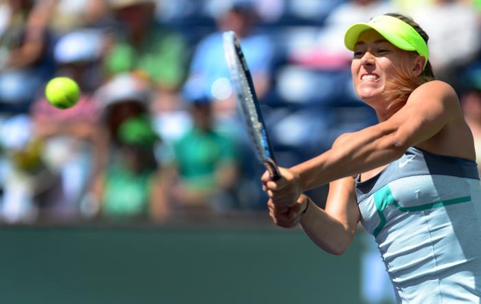 Мария Шарапова победила в престижном турнире WTA Индиан-Уэллса. Фото:  FREDERIC J. BROWN/AFP/Getty Images