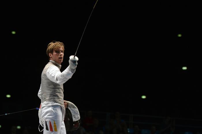 Петер Йоппих стал чемпионом Европы по фехтованию в 2013 году. Фото: DIMITAR DILKOFF/AFP/Getty Images