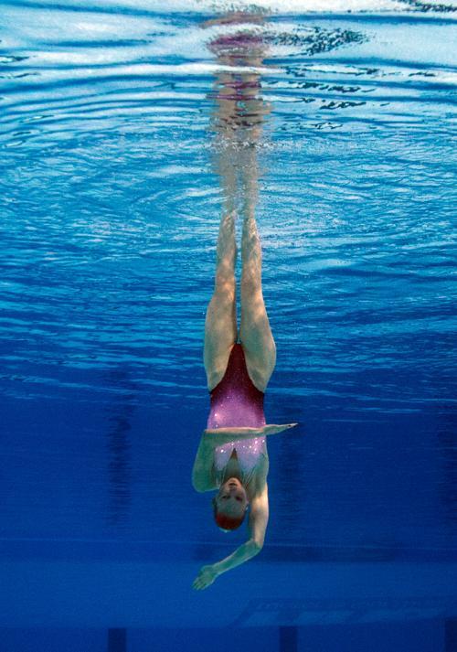 Светлана Ромашина стала 12-кратной чемпионкой мира в синхронном плавании 20 июля 2013 года в испанской Барселоне. Фото: FRANCOIS XAVIER MARIT/AFP/Getty Images