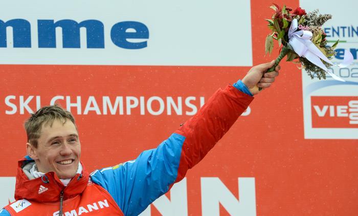 Никита Крюков завоевал первое золото ЧМ 2013. Фото: ANDREAS SOLARO/AFP/Getty Images