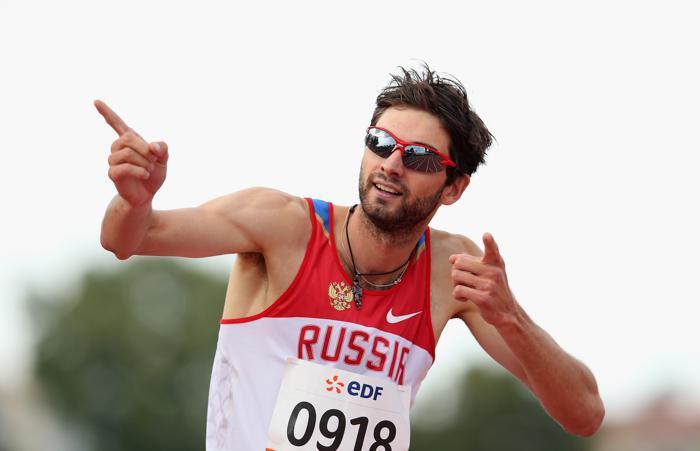 Мировой рекорд поставил Егор Шаров в беге на 800 метров в классе Т12 на Чемпионате мира по лёгкой атлетике во французском Лионе 23 июля 2013 года. Фото: Julian Finney/Getty Images