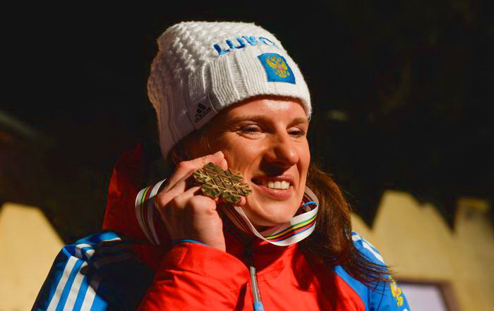 Юлия Чекалёва принесла России «бронзу» на ЧМ. Фото: ANDREAS SOLARO/AFP/Getty Images