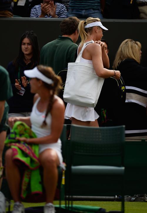 Мария Шарапова проиграла матч второго круга 131 ракетке мира Мишель Ларшер де Бриту и покинула турнир. Фото: Dennis Grombkowski/Getty Images
