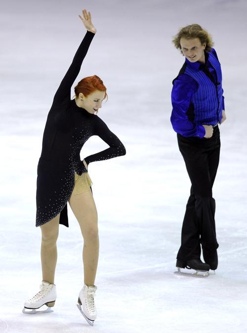 Российские фигуристы Евгения Косыгина и Николай Морошкин на юниорском Чемпионате мира в Милане 27 февраля 2013 года. Фото: Claudio Villa/Getty Images