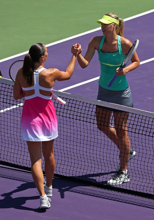 Мария Шарапова вышла в финал турнира в Майями. Фото: Mike Ehrmann/Getty Images