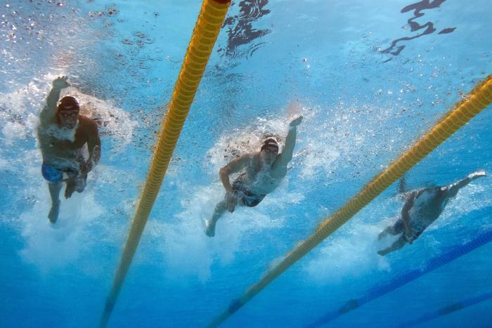 Данила Изотов взял бронзу в плавании кролем на дистанции 200 метров в 11 день Чемпионата мира по водным видам спорта в испанской Барселоне 30 июля 2013 года. Фото: FRANCOIS XAVIER MARIT/AFP/Getty Images
