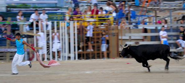 В испанском городе Тафалла бык покалечил 30 человек. Фото: Фото: JOSEP LAGO/AFP/Getty Images
