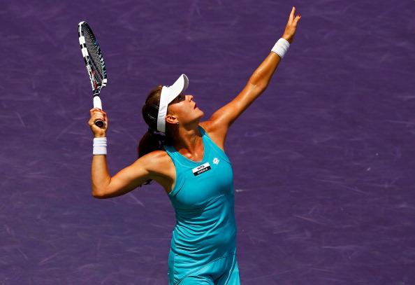 Агнешка Радваньска стала обладательницей  главного трофея теннисного турнира Sony Ericsson Open. Фоторепортаж из Майами. Фото: Al Bello, Mike Ehrmann, Michael Regan/Getty Images