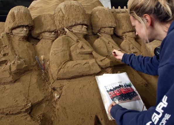 Выставка песчаных скульптур откроется в Японии. Фоторепортаж. Фото: Buddhika Weerasinghe/Getty Images