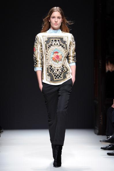 Показ моделей одежды от Balmain сезона осень-зима 2012/2013 на неделе моды в Париже. Фоторепортаж. Фото: Pascal Le Segretain/Getty Images