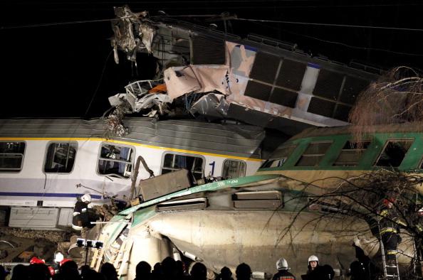 Два пассажирских поезда столкнулись в Польше. Погибли 15 человек, пострадали более 60.  Фоторепортаж. Фото: ANDRZEJ GRYGIEL/AFP/Getty Images