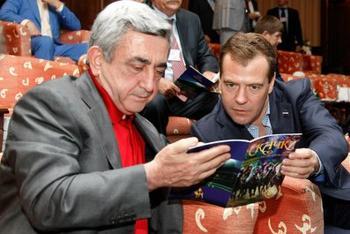 Дмитрий Медведев и Серж Саргсян посетили скачки на приз президента России в Казани. Фото с сайта kremlin.ru